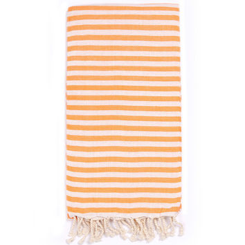 Turkish-T - Beach Candy Towel | Orange Crush