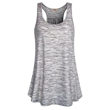 Running Vests Jogging Vertvie Women Summer I-shaped Back Crop Tops Running Gym Fitness Loose Anti-sweat Breathable Vests Quick Dry Sleeveless Shirts KO_11_1