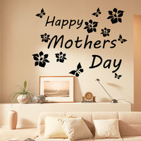 Family Wall Decals Love Quote Happy Mother's Day Vinyl Decal Sticker Bedroom Interior Design Art Mural Kids Room Nursery Decor MR333