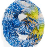 David & Young 'Watercolor' Print Infinity Scarf (Juniors) | Nordstrom
