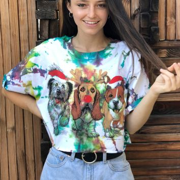 """Christmas Dogs"" Reworked Tee"