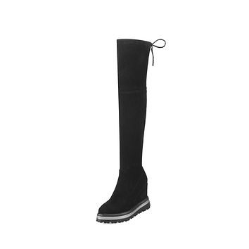 Over the Knee Boots Platform Wedge Winter Shoes for Woman 4825