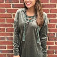 So Fly Hoodie Dress - Olive