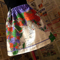 Unique ApparelWomens Skirt Map Of The World Skirt Quirky by Roobys