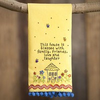 Linen  Hand  Towels:  Blessed  House  Linen  Hand  Towel  from  Natural  Life