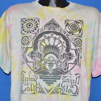 90s Flying Colors Tie Dye Mirrored Design t-shirt Extra Large