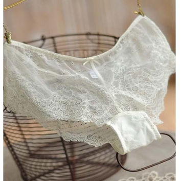 Lace Sexy Ladies Low Waist Panties =