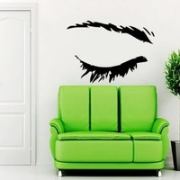 Eye Girls Wall Vinyl Decals Sticker Home Interior Decor for Any Room Housewares Mural Design Graphic Beauty Hair Spa Salon Wall Decal (5566)