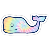 'tie dye whale' Sticker by Lauren Scott