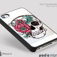 Flower Skull for iPhone 4/4S, iPhone 5/5S, iPhone 5c, iPhone 6, iPhone 6 Plus, iPod 4, iPod 5, Samsung Galaxy S3, Galaxy S4, Galaxy S5, Galaxy S6, Samsung Galaxy Note 3, Galaxy Note 4, Phone Case