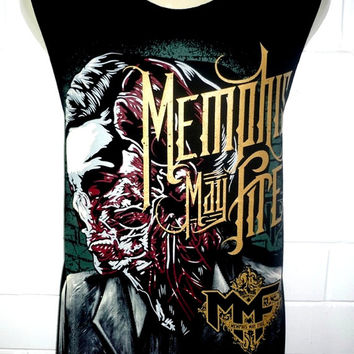 Memphis May Fire Rock Band Music Metal T Shirt Tank Top Singlet Vest Size M