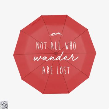 Not All Who Wander Are Lost, Lord Of The Rings Umbrella
