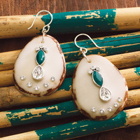 Polished Palms Earrings, Earrings - Silpada Designs