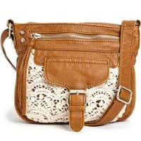 T-Shirt & Jeans Kelsey Crochet Faux Leather Purse