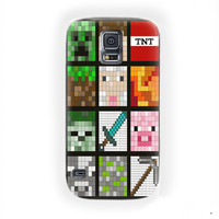 Minecraft Quilt Face Lego Custom For Samsung Galaxy S5 Case
