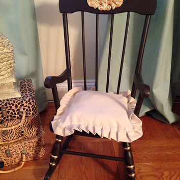 Vintage Child's Rocking Chair Hand Painted by ColorfulHomeDesigns