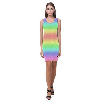 Groovy Pastel Rainbows Medea Vest Dress (Model D06) | ID: D2815943