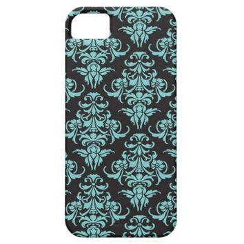 Damask vintage chandelier wallpaper floral pattern iPhone 5 cover