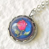 The Enchanted Rose Petite Necklace - Inspired from Disney's Beauty and the Beast