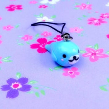 Kawaii mamegoma cute seal charm anime japanese keychain