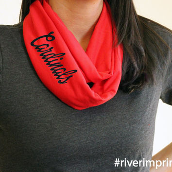 CARDINALS t-shirt infinity scarf, or your choice of mascot