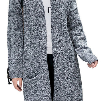 Women Plus Size Fashional Knitted Sweater Cardigan Outwear