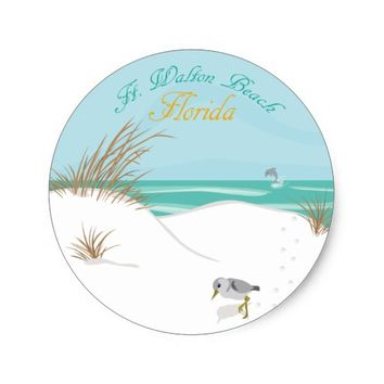 Ft. Walton Beach (Florida) Classic Round Sticker