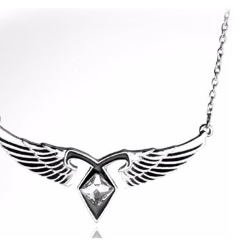 Mortal City of Bones Ashes Angel Wings Power Rune Pendant Necklace