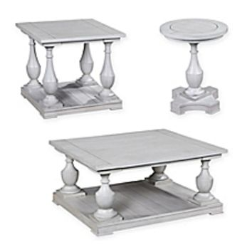 Bassett Mirror Company Holden Cocktail and End Table Collection in White