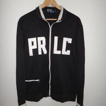 Vintage Polo Ralph Lauren PR CL Sweater Jacket Single Pocket Stitch Hip Hop Stadium P