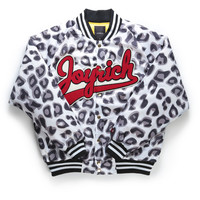 CANDY LEOPARD ATHLETIC JACKET / WHITE LEOPARD