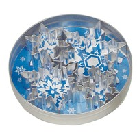 Fox Run 5 pc Snowflakes Stainless Steel Cookie Cutter Set