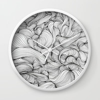 Fabric Wall Clock by duckyb