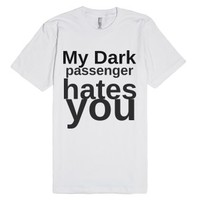 dark-Unisex White T-Shirt