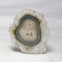 Quartz Stalactite Polished Slice Agate Center Uruguay Pendant stone