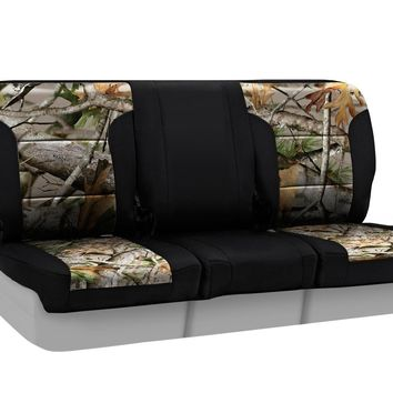 Coverking Front 40/20/40 Split Bench Custom Fit Seat Cover for Select Nissan Titan Models - Neosupreme Next Camo (Vista with Black Sides)