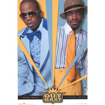 OutKast Andre 3000 and Big Boi Poster 22x34
