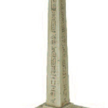 Egyptian Obelisk with Hieroglyphs Miniature for Educational Teaching 5.75H