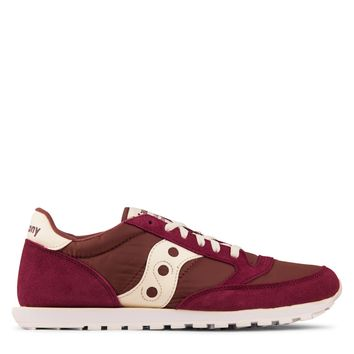 Saucony Jazz Low Pro Men's - Maroon/White