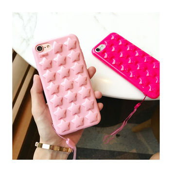 3D star Cover case for iphone 7 7 plus 6 6s 6plus 6splus phone capa -0317