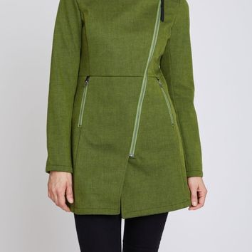 Houston Trending Rain Jacket in Green