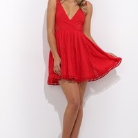 No Love Allowed Dress Red