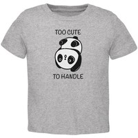 DCCKJY1 Panda Too Cute to Handle Toddler T Shirt