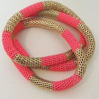 It's Electric Trio Stretch Bracelet in Pink -  $18.00 | Daily Chic Accessories | International Shipping
