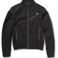 Tim Coppens - Leather-Trimmed Lightweight Bomber Jacket | MR PORTER