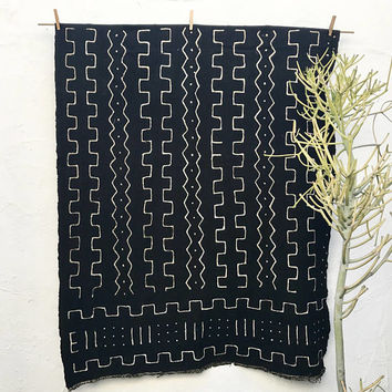 Black Mudcloth Fabric | African Mudcloth Textiles Mud cloth Fabric African Fabric African Mud Cloth Tribal Fabric Boho Decor Tribal Decor 52