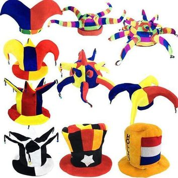 ESBON 2017 New Colorful Circus Clown Hat Kids Adults Football Beer Carnival Party Hats Halloween Fancy Dress Decoration