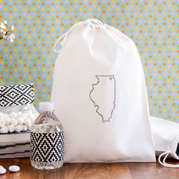 Personalized 10 Custom State Wedding Welcome Bags