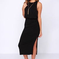 Moment of Truth Black Maxi Dress