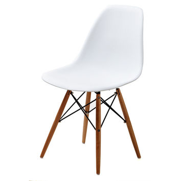Lucas White Wood Grain Accent Chairs (Set of 2) | Overstock.com Shopping - The Best Deals on Dining Chairs